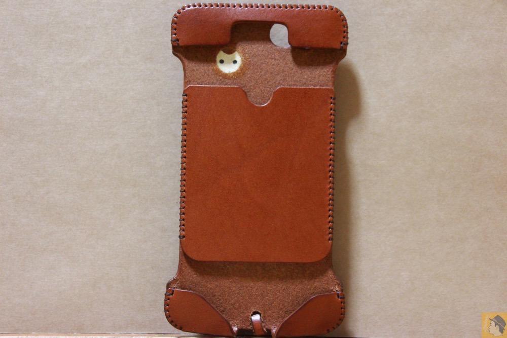 表面 - 初リンゴドット柄のabicase(アビケース)/ abicase cawa ウォレットジャケット 栃木レザー キャメル / iPhone 6/6s