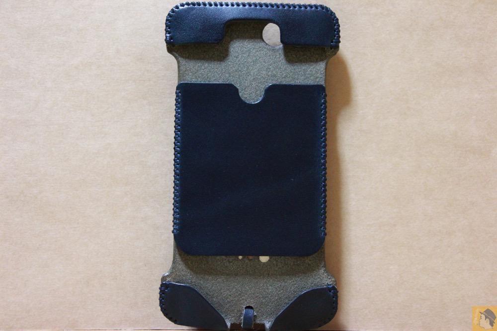 表面 - abicase(アビケース) cawa ウォレットジャケット ネイビー / iPhone 6/6s / カラフルリンゴドット柄abicase