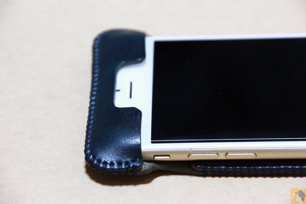 フラップ上部 - カラフルリンゴドット柄abicase(アビケース)/ abicase cawa ウォレットジャケット ネイビー / iPhone 6/6s