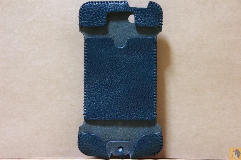 表面 - 指紋認証対応したオイルバケッタレザーのabicase(アビケース)/ abicase cawa ウォレットジャケット 栃木レザー オイルバケッタブルー / iPhone 5/5s