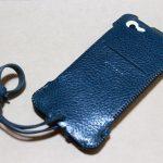 指紋認証対応したオイルバケッタレザーのabicase(アビケース)/ abicase cawa ウォレットジャケット 栃木レザー オイルバケッタブルー / iPhone 5/5s