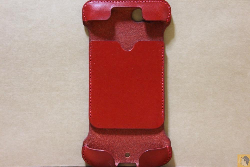 表面 - 初じめての赤でインパクトある背面のabicase(アビケース)/ abicase cawa ウォレットジャケット 栃木レザー 赤  / iPhone 6/6s