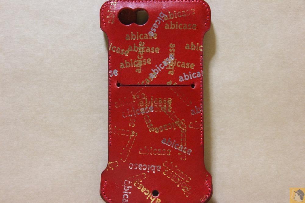 背面 - abicase(アビケース) cawa ウォレットジャケット 栃木レザー 赤 / iPhone 6/6s / 初じめての赤でインパクトある背面のabicase
