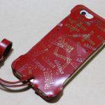 初じめての赤でインパクトある背面のabicase(アビケース)/ abicase cawa ウォレットジャケット 栃木レザー 赤  / iPhone 6/6s