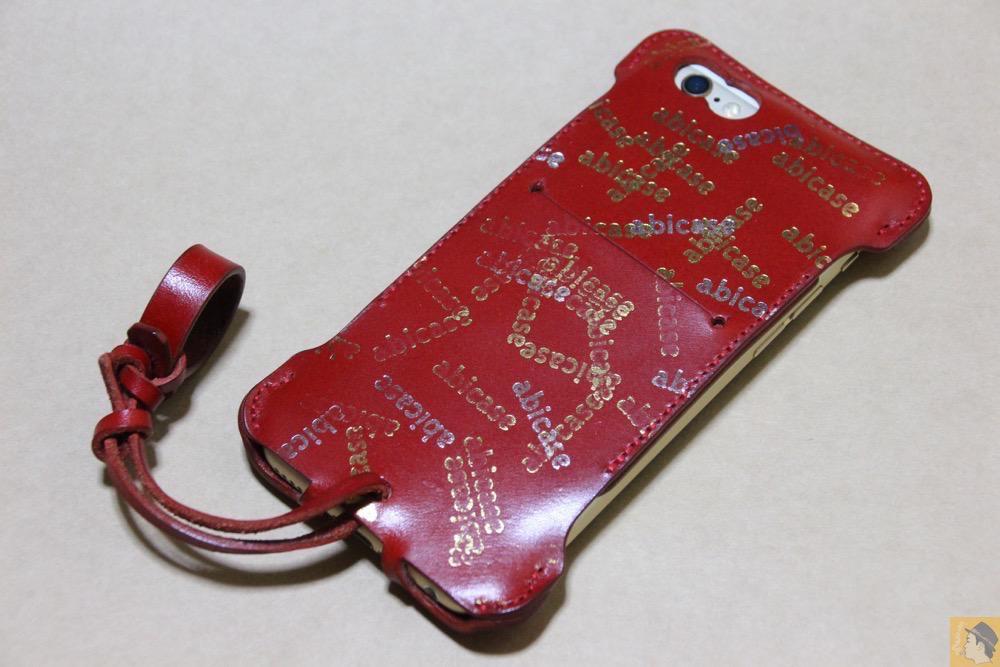 アイキャッチ - abicase(アビケース) cawa ウォレットジャケット 栃木レザー 赤 / iPhone 6/6s / 初じめての赤でインパクトある背面のabicase