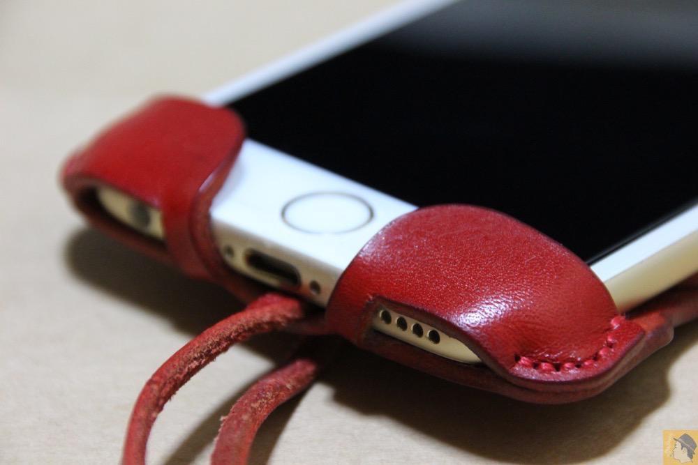 フラップ下部 - abicase(アビケース) cawa ウォレットジャケット 栃木レザー 赤 / iPhone 6/6s / 初じめての赤でインパクトある背面のabicase