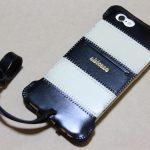 白と黒の組み合わせが気に入っているabicase(アビケース)/ abicase cawa ウォレットジャケット 栃木レザー 白黒ストライプ  / iPhone 6/6s