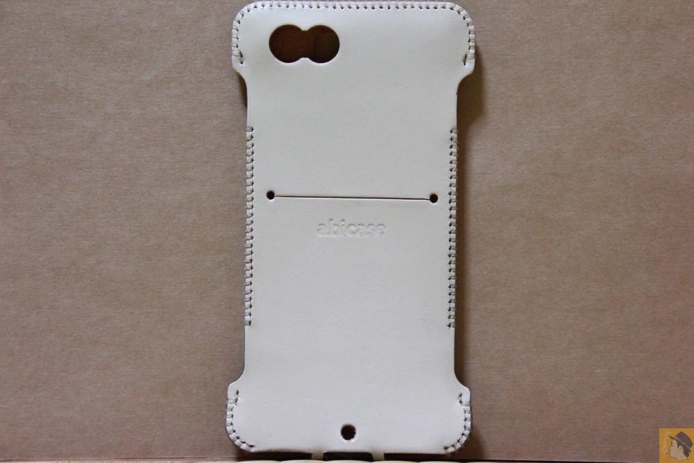 背面 - 銀面真っ白abicase(アビケース)/ abicase cawa ウォレットジャケット 栃木レザー シロ / iPhone 6/6s
