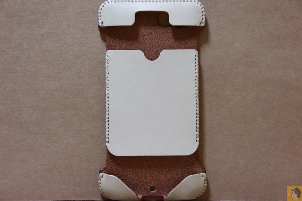 表面 - 銀面真っ白abicase(アビケース)/ abicase cawa ウォレットジャケット 栃木レザー シロ / iPhone 6/6s