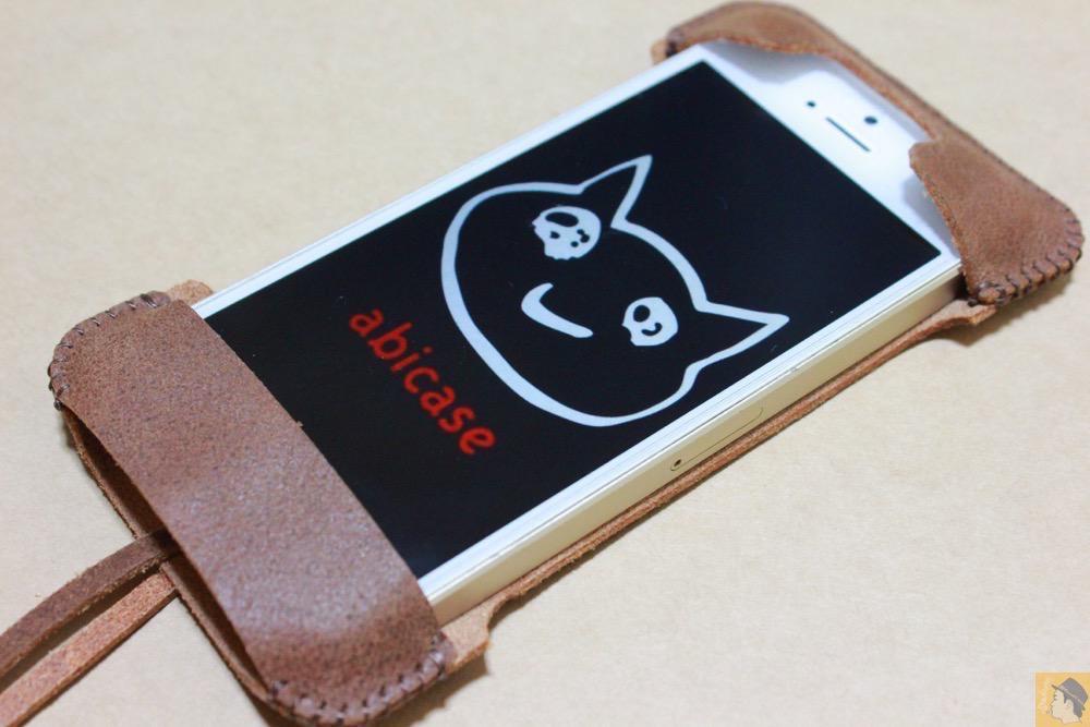 アイキャッチ - とても柔らかい革使ったabicase(アビケース)、ペラペラだけどiPhoneにぴったり装着できる / iPhone 5/5s [レビュー 16/40]