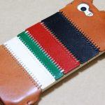 トリコロール柄のabicase(アビケース)、計算された革幅の縫い継ぎ / iPhone 5/5s [レビュー 17/40]