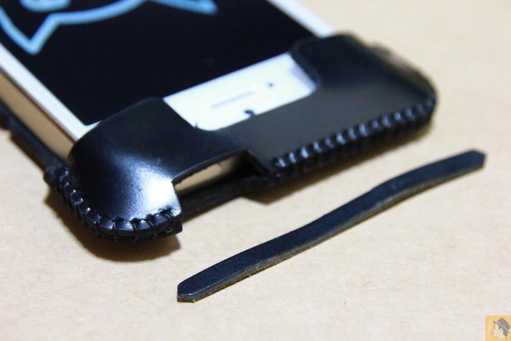押しやすくする工夫 - ボタンが更に押しやすくなったabicase(アビケース)、押す位置を分かりやすくするためデザインに工夫 / iPhone 5/5s [レビュー 20/40]