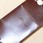 贅沢にコードバンを使用したabicae(アビケース)。希少性高い革・革のダイヤモンドと呼ばれる革 / iPhone 5/5s [レビュー 24/40]