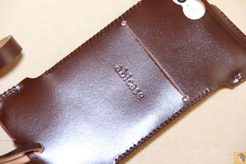 サムネイル - 贅沢にコードバンを使用したabicae(アビケース)。希少性高い革・革の王様・革のダイヤモンドと呼ばれる革 / iPhone 5/5s [レビュー 24/40]