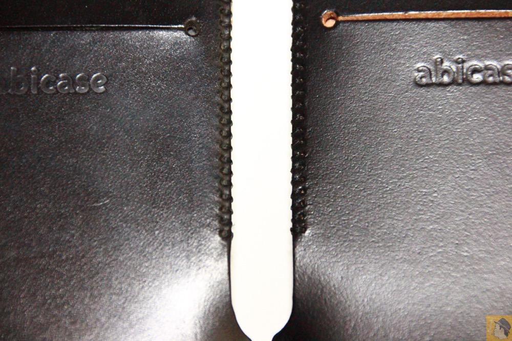 銀面が墨のような黒2 - コードバンabicase アビケース。銀面が墨で色付けしたかのような黒さです / iPhone 6/6s [レビュー 32/40]