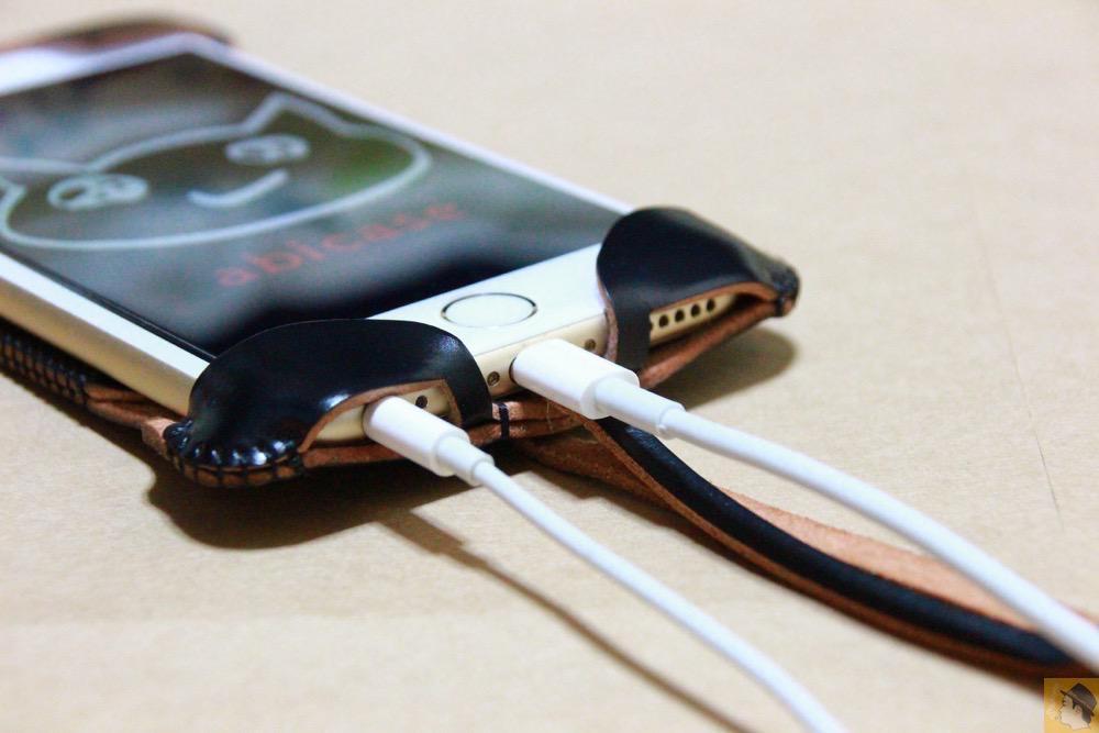 充電ケーブル・イヤフォン - コードバンabicase アビケース 銀面が墨で色付けしたかのような黒さです / iPhone 6/6s [レビュー 32/40]