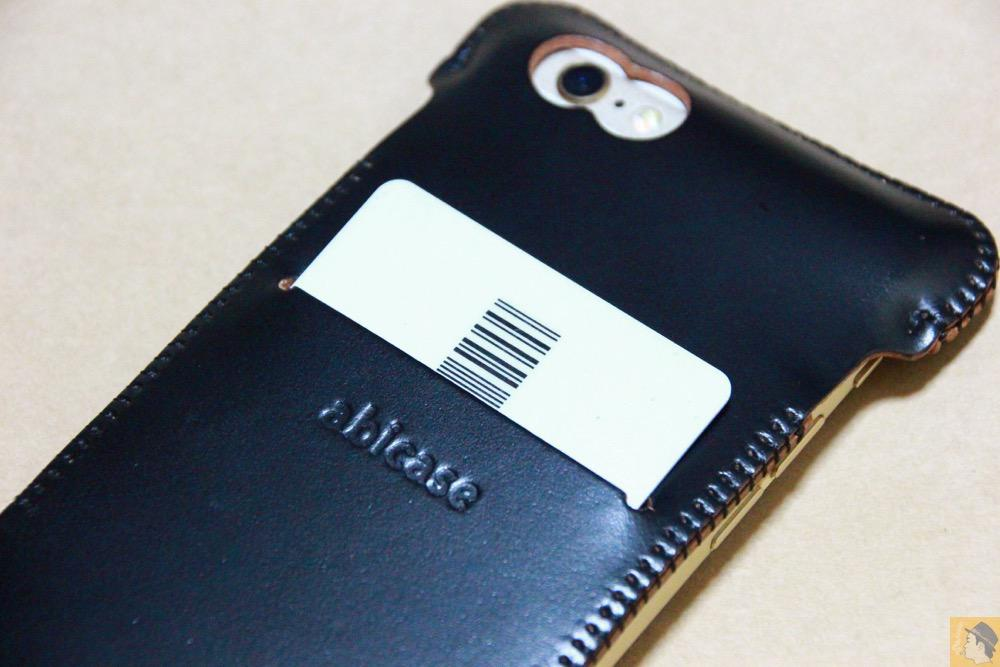 スリット - コードバンabicase アビケース 銀面が墨で色付けしたかのような黒さです / iPhone 6/6s [レビュー 32/40]