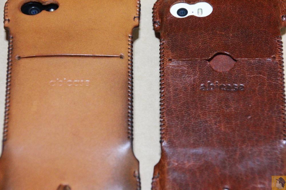 牛革と鹿革 - 後にも先にもない鹿革のabicase(アビケース)、心がくすぐられる個性的な銀面が魅力 / iPhone 5/5s [レビュー 27/40]