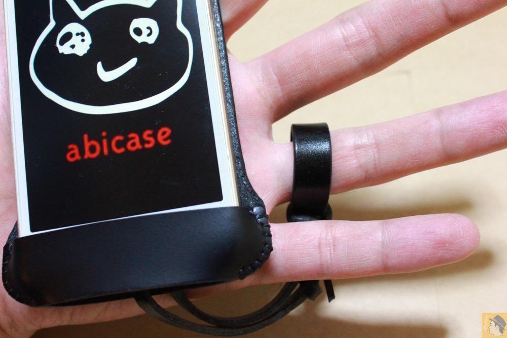 ストラップ - 珍しいタイプのabicase(アビケース)ウォレットジャケット、1枚革でカード収納が出来る / iPhone 5/5s [レビュー 21/40]