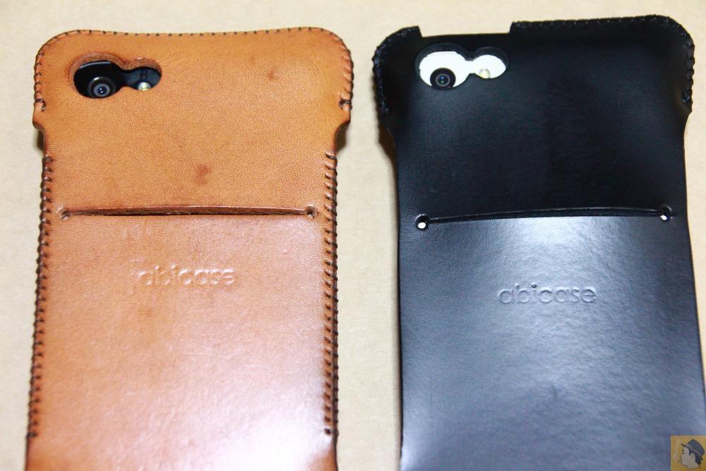 スリット - 珍しいタイプのウォレットジャケットabicase(アビケース)、1枚革でカード収納が出来る / iPhone 5/5s [レビュー 21/40]