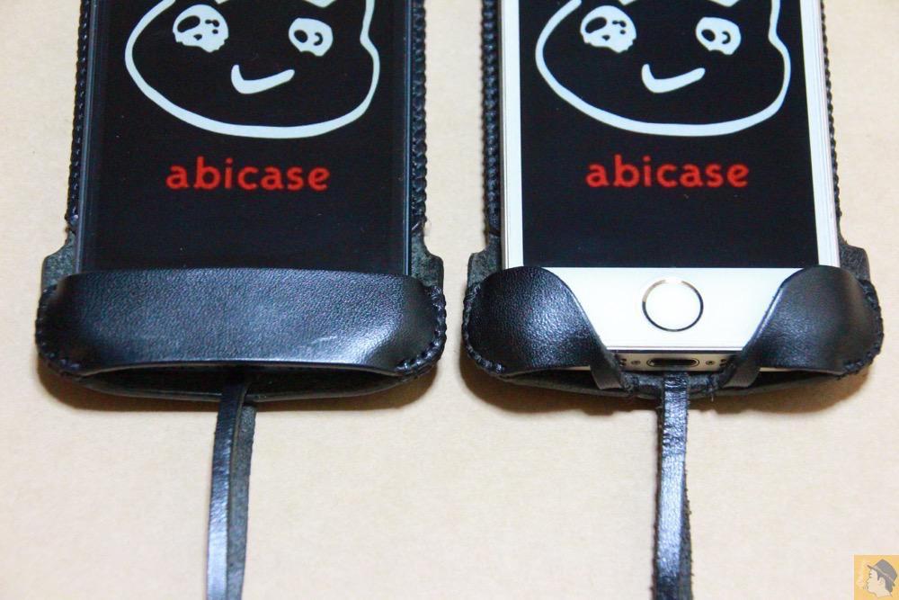 指紋認証に対応したフラップ - 指紋認証に対応したabicase(アビケース)、フラップ部分でホームボタンを露出させて工夫 / iPhone 5/5s [レビュー 22/40]
