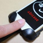 指紋認証に対応したabicase(アビケース)、フラップ部分でホームボタンを露出させて工夫 / iPhone 5/5s [レビュー 22/40]