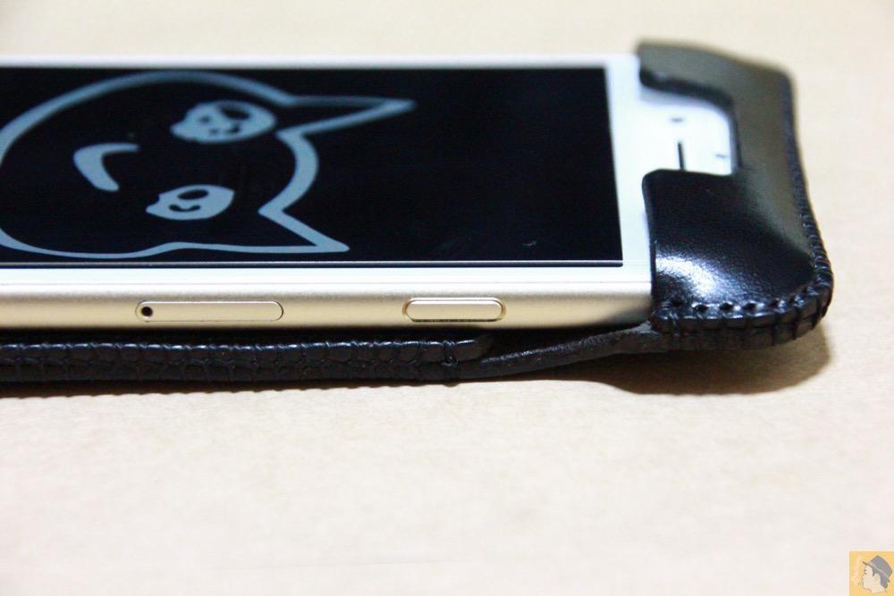 スリープボタン - iPhone 6/6s用abicase(アビケース)はスリープボタンが移動したことで上部のデザインが変更されフラットに / iPhone 6/6s [レビュー 29/40]