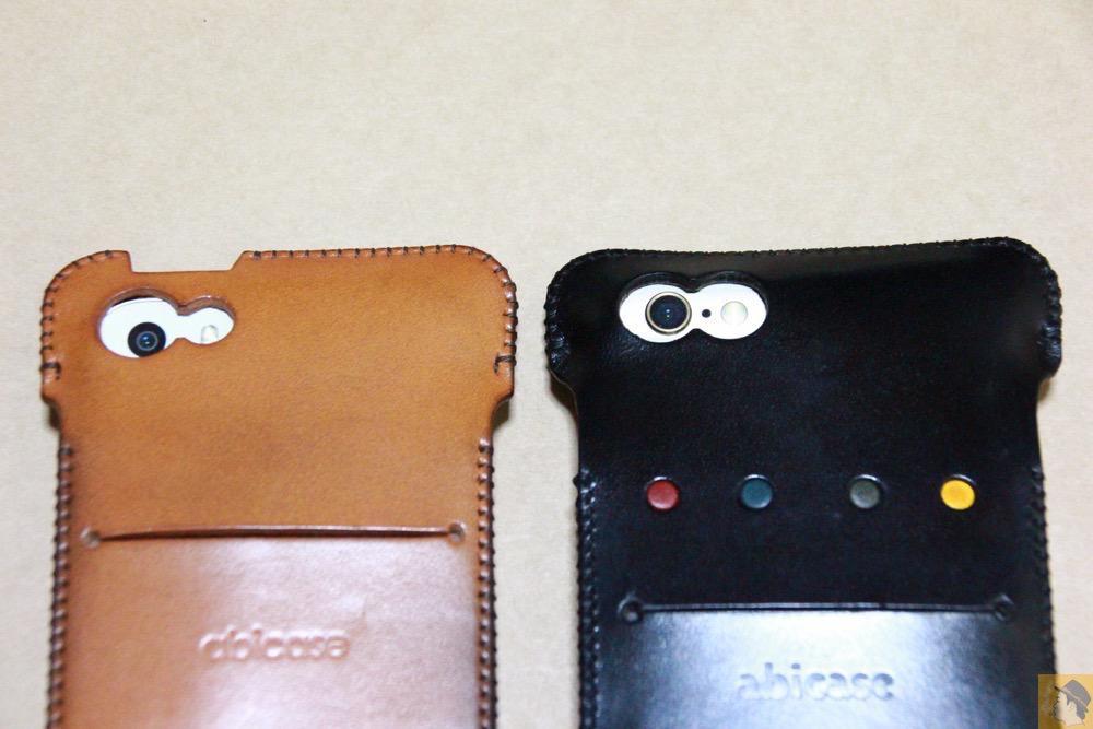 これまでとの比較 - iPhone 6/6s用abicase(アビケース)はスリープボタンが移動したことで上部のデザインが変更されフラットに / iPhone 6/6s [レビュー 29/40]