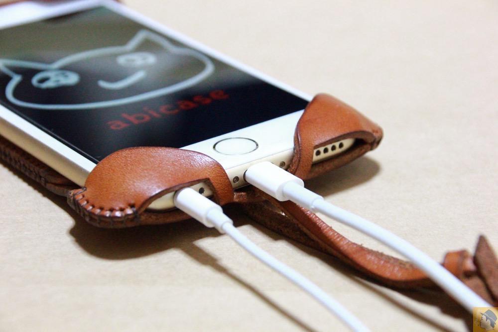 充電ケーブル・イヤフォン - abicase アビケースの中で一番初めに作られたリンゴドット柄デザイン / iPhone 6/6s [レビュー 30/40]