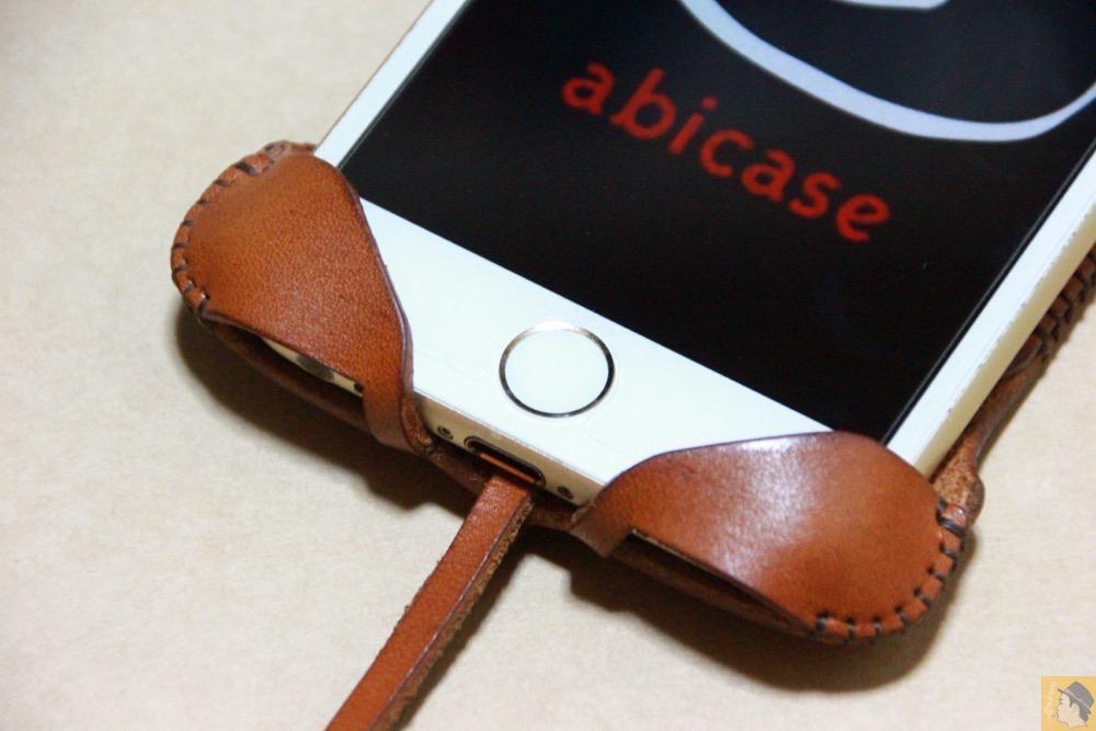 ホームボタン - abicase アビケースの中で一番初めに作られたリンゴドット柄デザイン / iPhone 6/6s [レビュー 30/40]