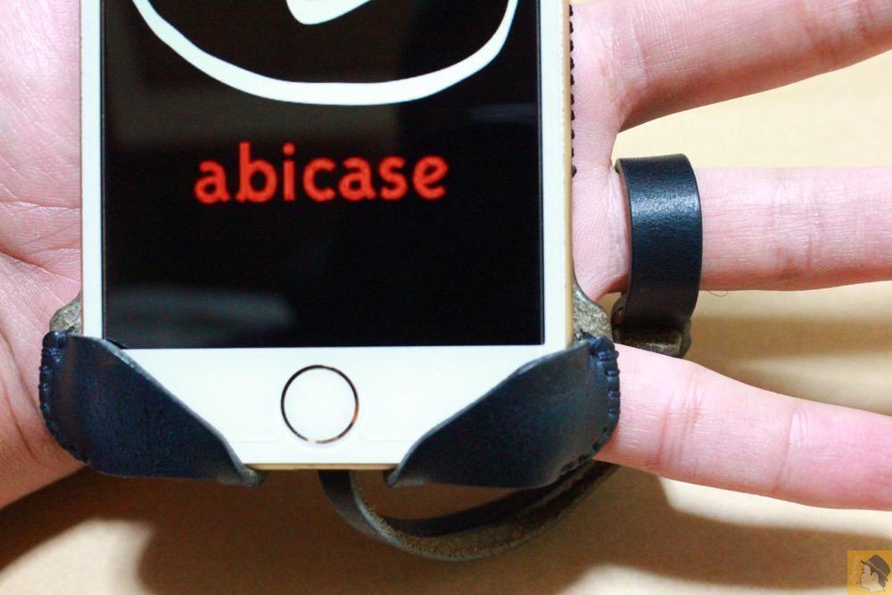 ストラップ - ネイビーabicase アビケース 背面に施されたりんごドット柄がカラフル配色 / iPhone 6/6s [レビュー 33/40]