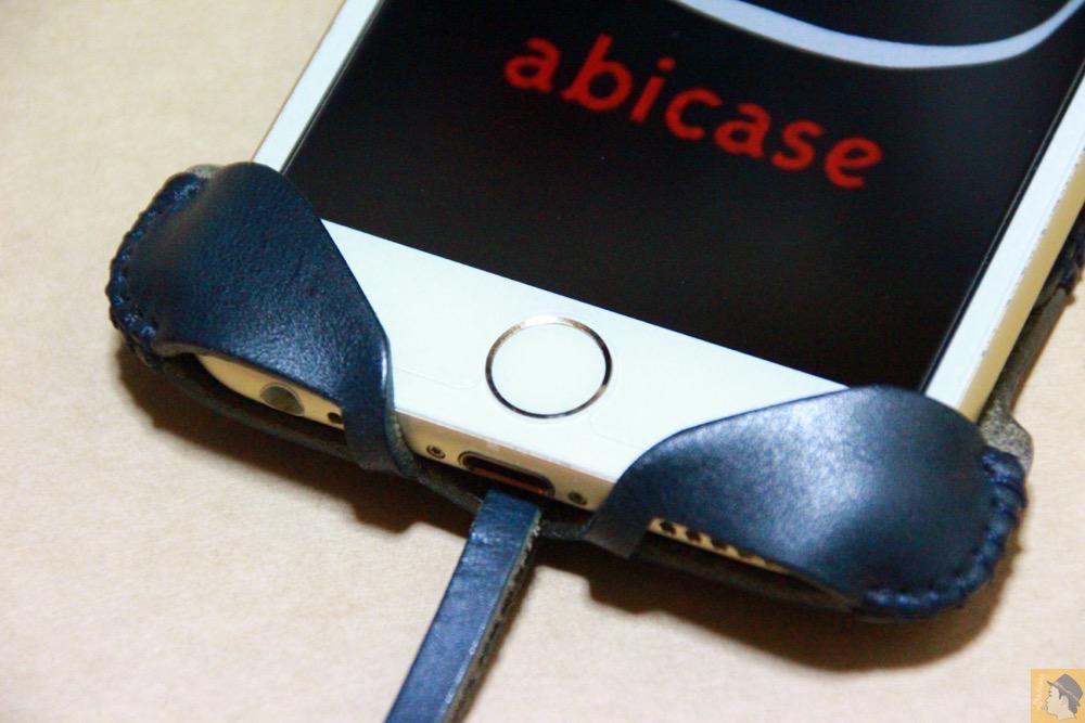 ホームボタン - ネイビーabicase アビケース 背面に施されたりんごドット柄がカラフル配色 / iPhone 6/6s [レビュー 33/40]