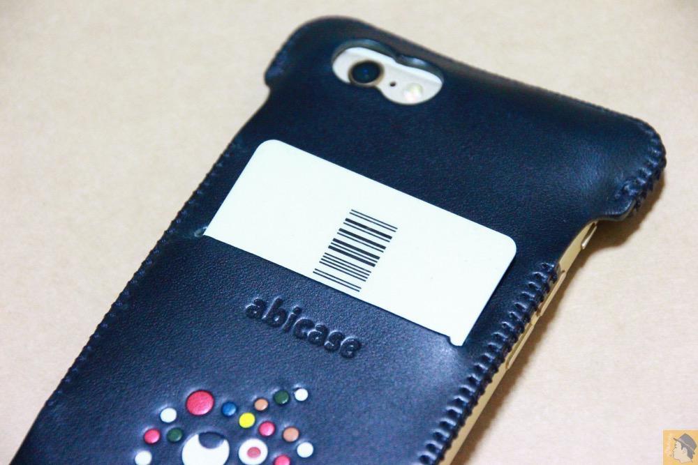 スリット - ネイビーabicase アビケース 背面に施されたリンゴドット柄がカラフル配色です / iPhone 6/6s [レビュー 33/40]