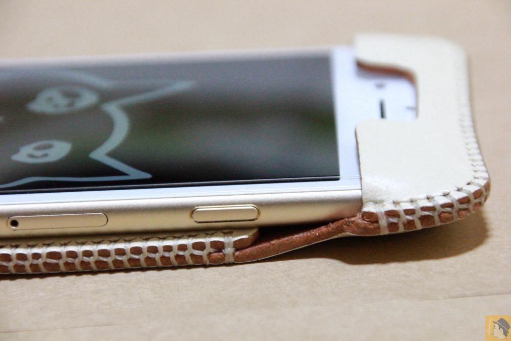 スリープボタン - abicase アビケースは工夫の連続。フラップの工夫でiPhoneの画面下の操作がしやすい / iPhone 6/6s [レビュー 31/40]