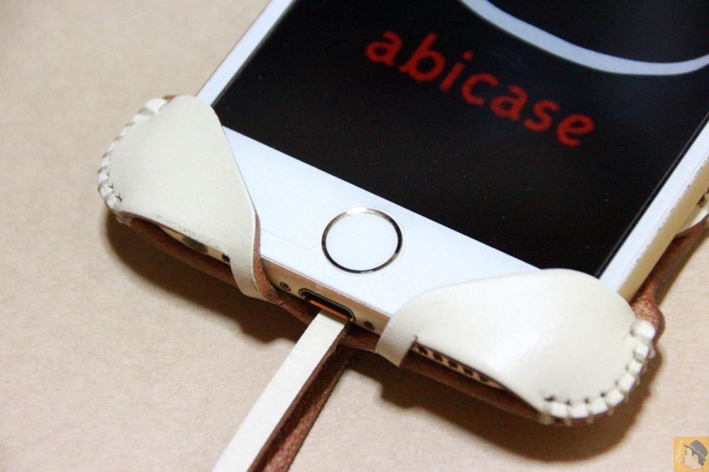ホームボタン - abicase アビケースは工夫の連続。フラップの工夫でiPhoneの画面下の操作がしやすい / iPhone 6/6s [レビュー 31/40]