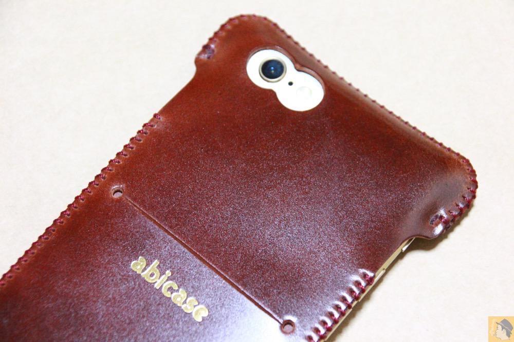 艶のある鮮やかな色 - コードバンabicase アビケースのレッドブラウン色は惚れる色で艶のある綺麗な革 / iPhone 6/6s [レビュー 35/40]
