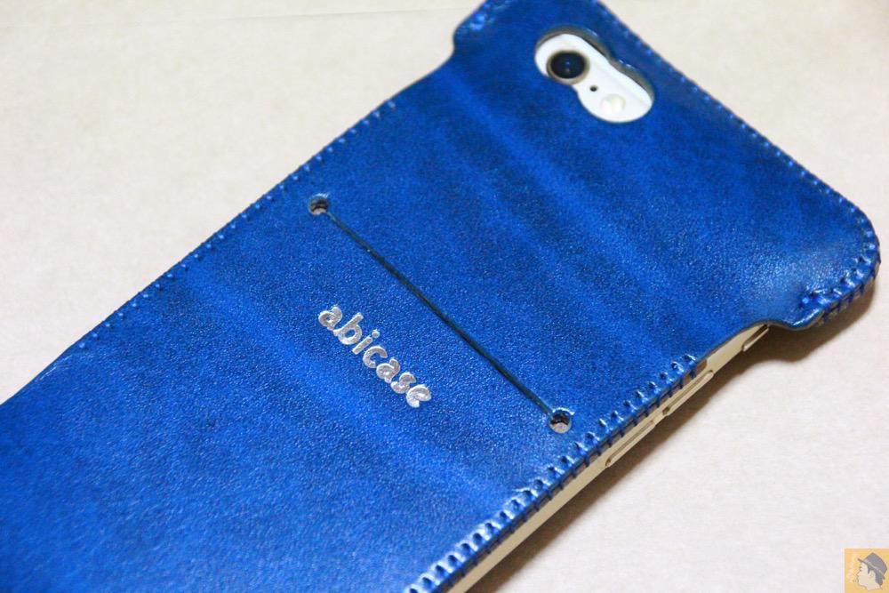 鮮やかな青 - ルガトレザーabicase アビケースは鮮やかな青に虎模様が綺麗に入った銀面が特徴 / iPhone 6/6s [レビュー 37/40]