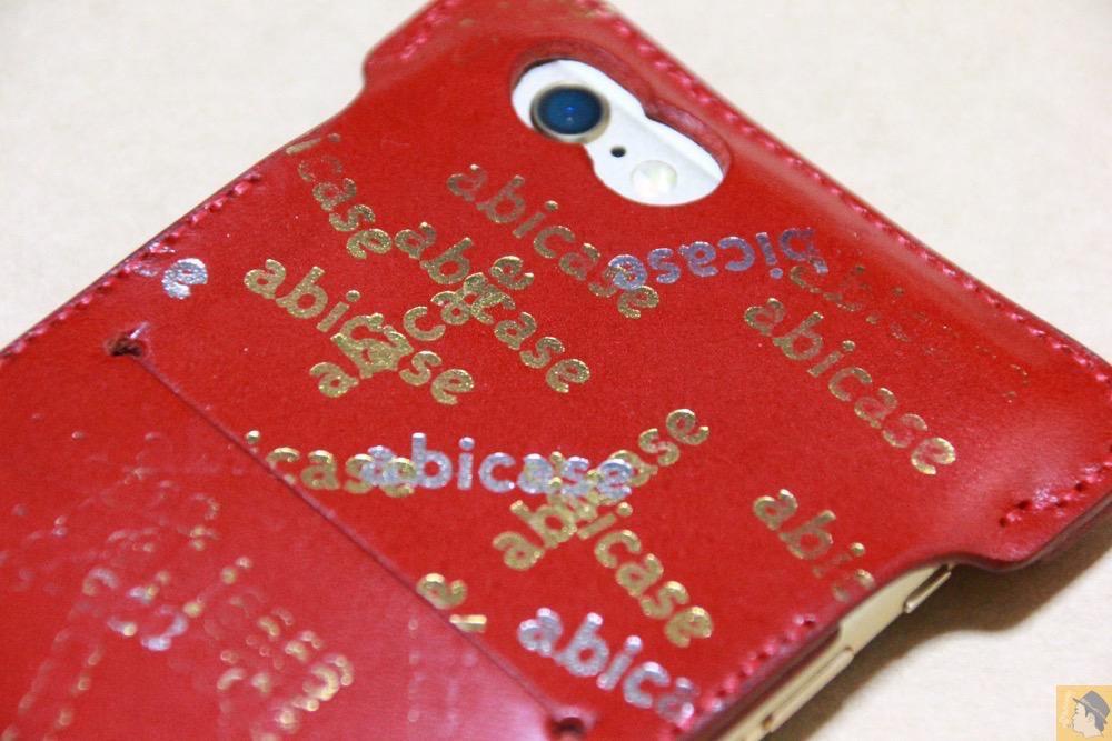 サムネイル - 初めての赤色abicase アビケースは背面にこれまでにない刻印の乱れ打ちデザイン / iPhone 6/6s [レビュー 39/40]