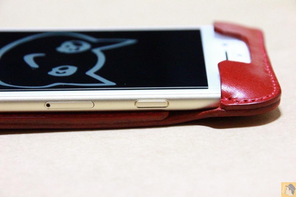 スリープボタン - 初めての赤色abicase アビケースは背面にこれまでにない刻印の乱れ打ちデザイン / iPhone 6/6s [レビュー 39/40]